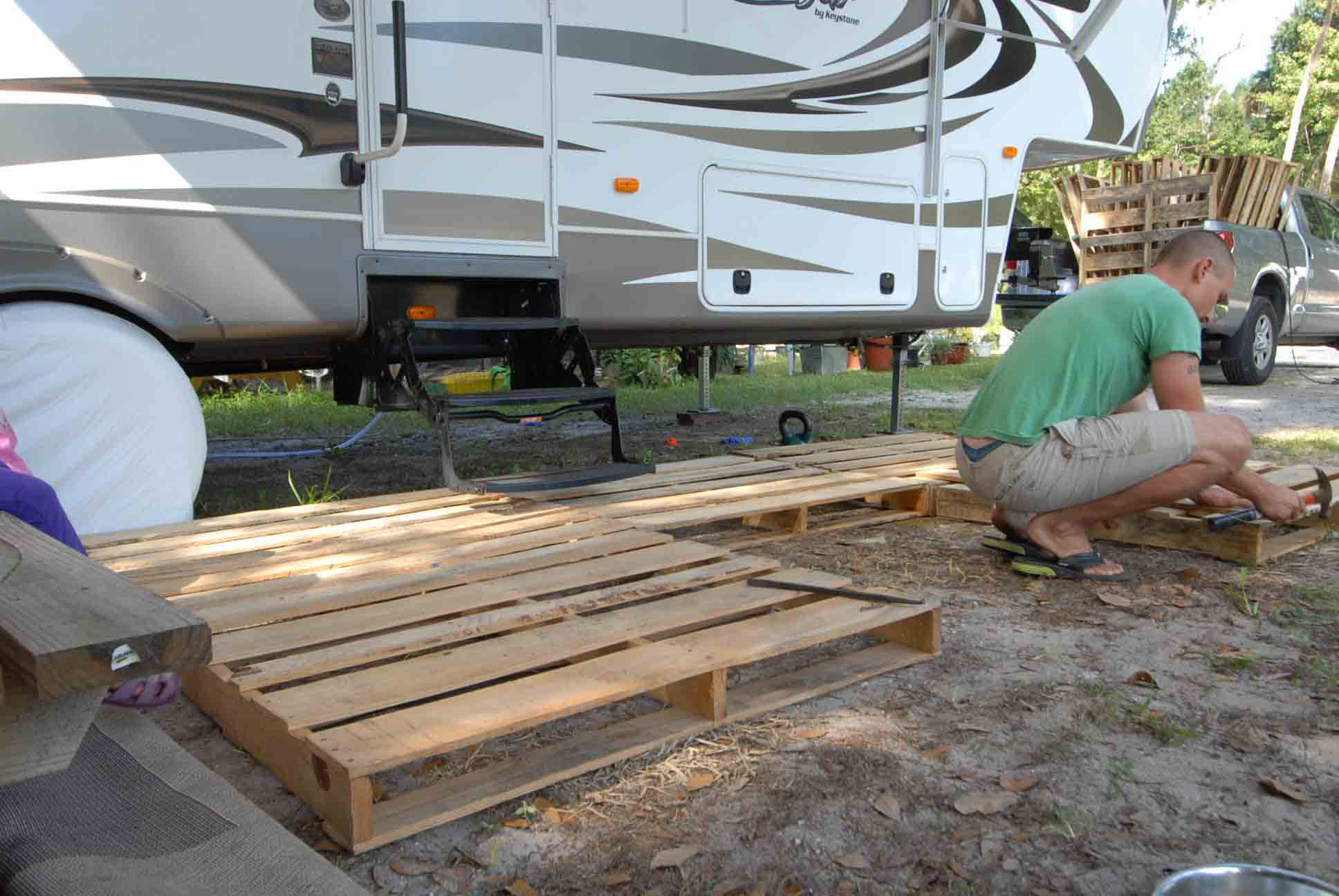 how to build a portable deck for rv 5